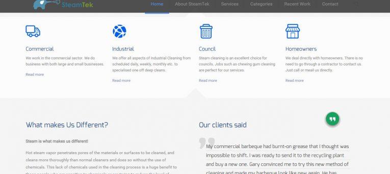 Steamtek. Website created by Smiling Spiders